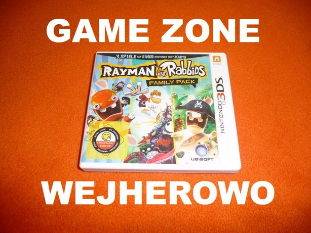Rayman and Rabbids Family Pack Nintendo 3DS + 2DS = Wejherowo = 3 gry