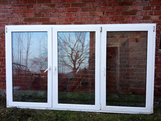 Okna PCV białe Używane Plastikowe 268x156