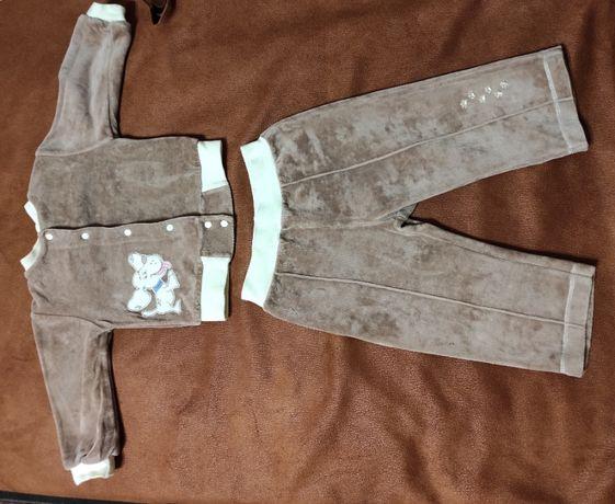 детский костюм штанишки и кофточка на кнопочках 10 - 16 мес.