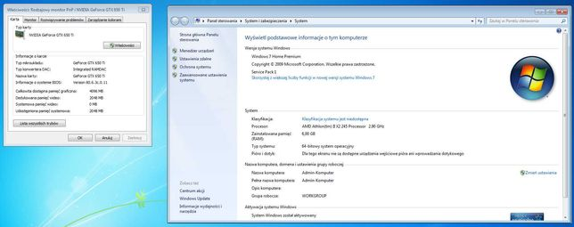 Komputer stacjonarny (Nvidia Geforce GTX 650Ti 2gb)