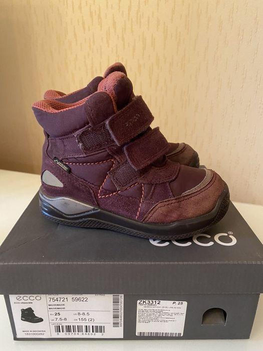 Зимние ботинки Ecco на девочку 25 размер Киев - изображение 1