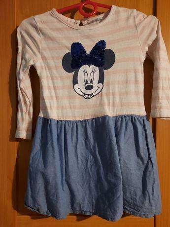 Sukienka dziewczęce z myszką minie rozmiar 86