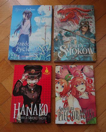 Manga Hanako Łowcy smoków Sposób na pięcioraczki Sprzedałem swoje życi