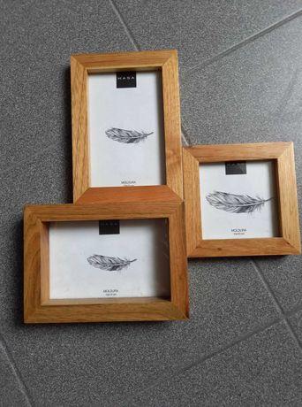 Moldura tripla em madeira