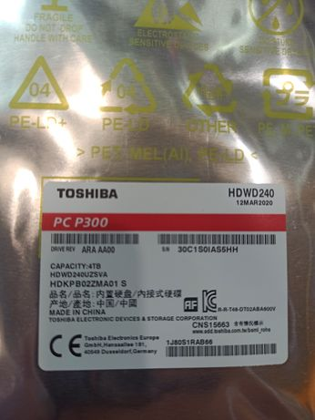 """Жёсткий диск HDD 3,5"""" TOSHIBA 1TB SATA ІІІ 7200 RPM 64 MB"""