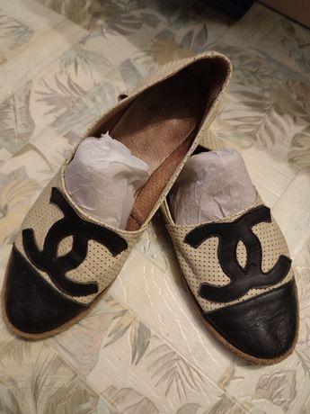 Балетки кожа ( туфли) р. 38 (24.5-25 см)