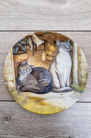 """Тарелка """"Котики на солнышке"""" USA"""