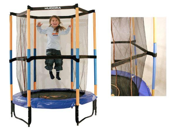 Trampolina Hudora 140 cm dla dzieci bezpieczna
