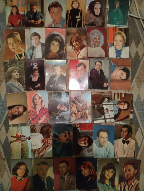 Цветные открытки с актерами