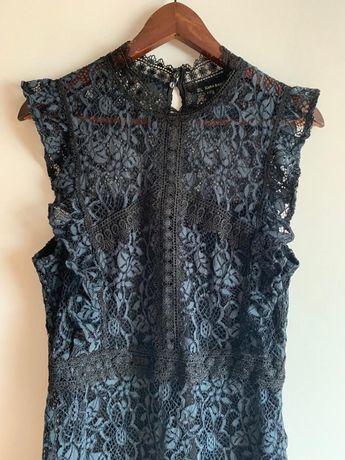 Sukienka koronka koronkowa Zara L/40