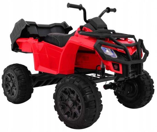Quad dla dzieci na akumulator XL ATV Pilot 2.4GHZ Czerwony BDM0909
