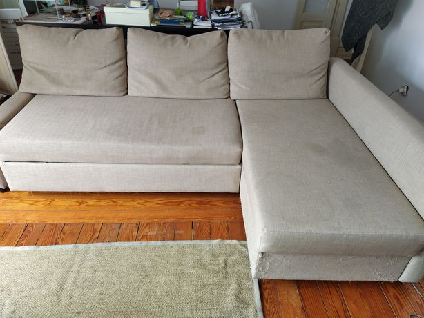 Sofá cama chaise long do IKEA