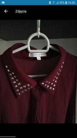 Bordowa bluzka, elegancka bez rękawów
