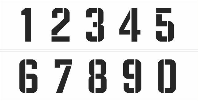 Трафарет цифр изготовление букв и цифр для трафаретов