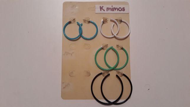 4 pares de argolas / brincos K Mimos - novas - portes incluidos