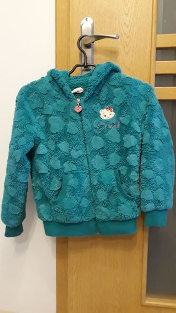 Ciepła futrzana bluza-kurtka dla.dziewczynki