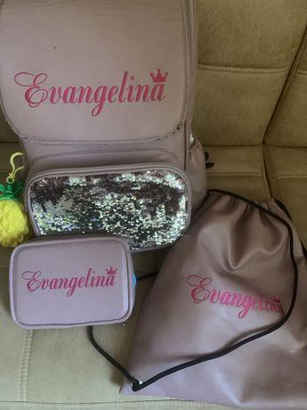 Школьный рюкзак именной Евангелина