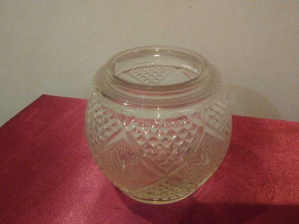 Globo / campânula de candeeiro, em vidro com relevo picotado