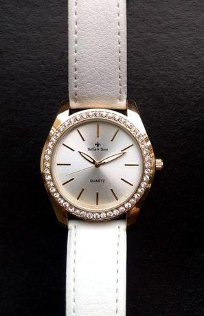 Bella rose часы из сша со стразиками на циферблате