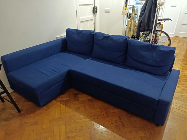 Sofá FRIHETEN IKEA com Chaise Long - Como novo
