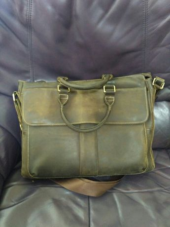 Мужская сумка портфель из лошадиной кожи