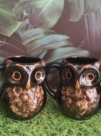 Чашки Совушка ,керамика