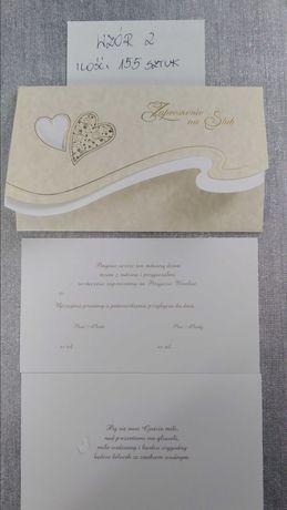 Zaproszenia ślubne 155 sztuk