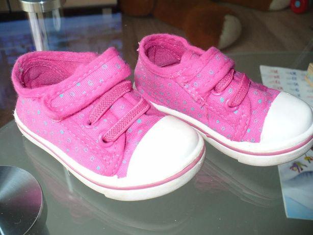 Buty trampki różowe rozmiar 19