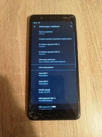 Nokia 5.1 Model TA-1075 16gb/2gb Sprawny kabel USB