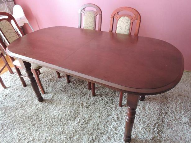 tylko stół mahoń 160/200x80x75 owalny