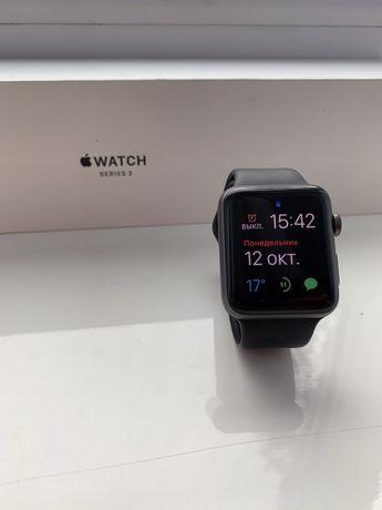 Apple Watch siries 3 42mm space gray ПОЛНЫЙ КОМПЛЕКТ