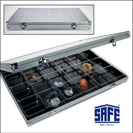 Алюминиевая витрина для камней / минералов - SAFE Midi