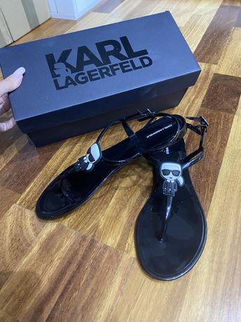 Czarne Sandalki Karl Lagerfeld 39 sanadły buty