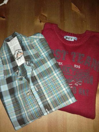 Camisola de malha NKY + camisa BERG talha 12
