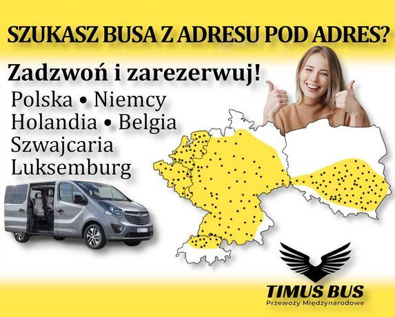 Busy do Niemiec, Holandii ŚWIĘTKORZYSKIE, przewozy osób za granicę