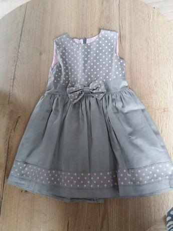Sukienka 116 elegancka szara