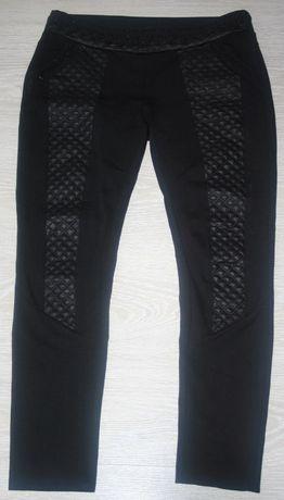 Grubsze legginsy spodnie damskie r. M ze zdobieniami na wzrost ok 160!