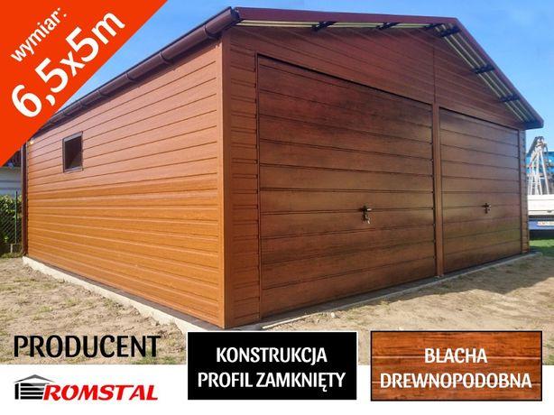 Garaż blaszny 6x5.5m drewnopodobny,hale,wiaty,schowki,wiaty