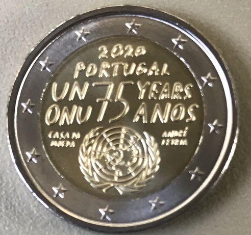 Vendo moeda comemorativa Portuguesa 2,00€ - 75 anos ONU.