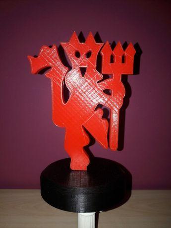 Manchester United Logo Devil Diabeł Czerwone Diabły 3D