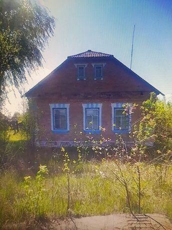 Дом кирпичный с прудом