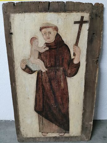 Santo António pintado em talha séc XVIII