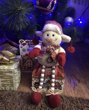 Новогоднее украшение под елку снеговик фигурка игрушка на новый год
