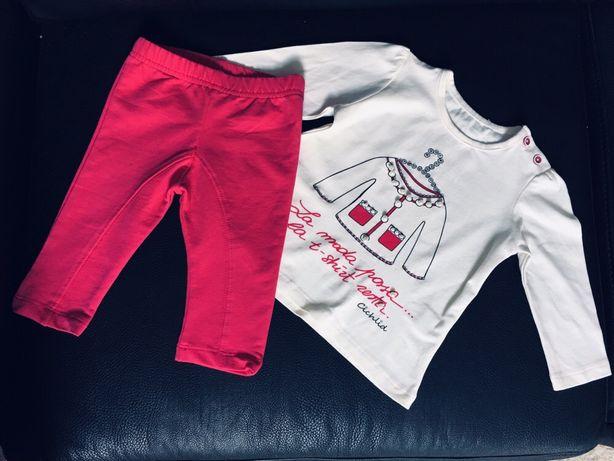 Komplet spodnie i bluzeczka styl Paris rozmiar 74 6-9 miesięcy