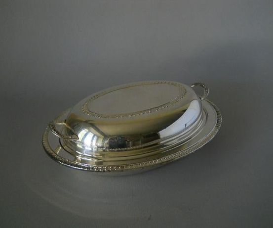 Мельхиоровый судок с крышкой для горючих блюд от F. B. Rogers Silver C