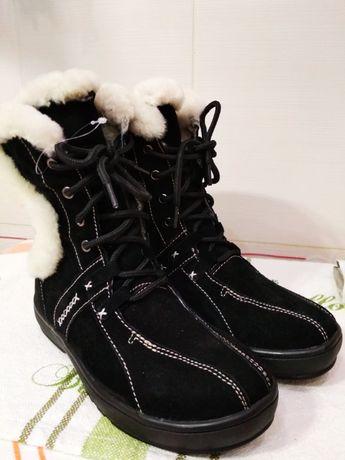 Зимние ботинки женские URBICA замша+овчина