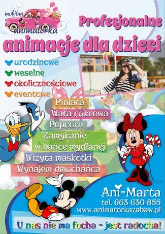 :) Mobilna Animatorka,animator,animacje, dmuchaniec, mikołajki :)