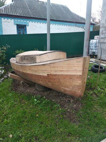 Яхта вітрильна. Заготовка під кетбот.