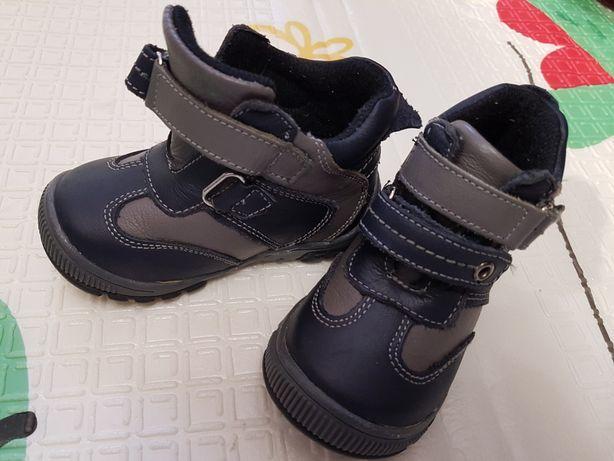 Ботинки демисезонные на мальчика кожаные весна осень 21р, 13 см