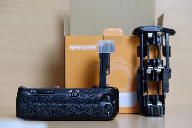 Punho Neewer BG-E13 e baterias LP-E6 para Canon 6D